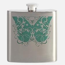 Ovarian-Cancer-Butterfly-blk Flask