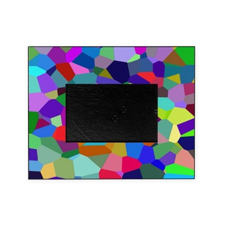 Vibrant and Colorful Veronoi Art Picture Frame