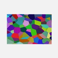 Vibrant and Colorful Veronoi Art Rectangle Magnet