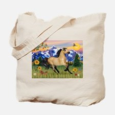 Mt. Country Buckskin Horse Tote Bag