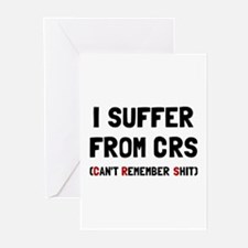 CRS Remember Shit Greeting Cards
