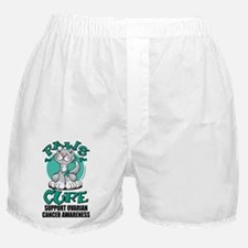 Paws-for-the-Cure-Cat-Ovarian-Cancer Boxer Shorts