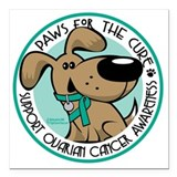 Ovarian cancer Square Car Magnets