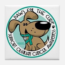 Paws-for-the-Cure-Ovarian Tile Coaster