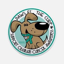 Paws-for-the-Cure-Ovarian Round Ornament