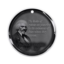 fred d quote  Round Ornament
