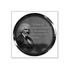 "fred d quote  Square Sticker 3"" x 3"""