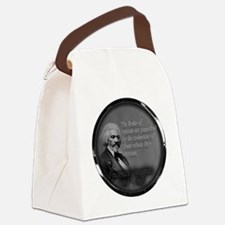 fred d quote  Canvas Lunch Bag