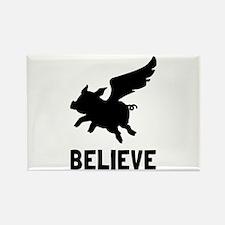 Flying Pig Believe Magnets