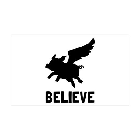 Flying Pig Believe Wall Decal