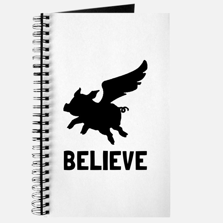 Flying Pig Believe Journal