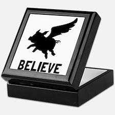 Flying Pig Believe Keepsake Box