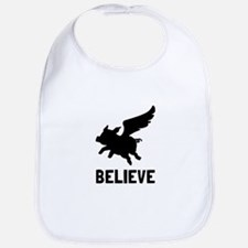 Flying Pig Believe Bib