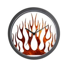 Tribal Flames Fire Wall Clock