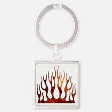 Tribal Flames Fire Square Keychain
