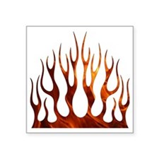 "Tribal Flames Fire Square Sticker 3"" x 3"""