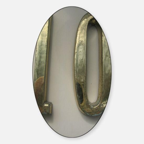 gold10 Sticker (Oval)