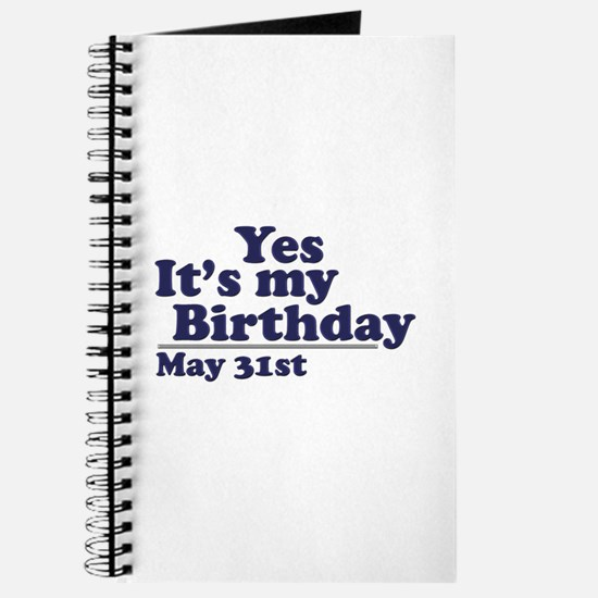 May 31 Birthday Journal