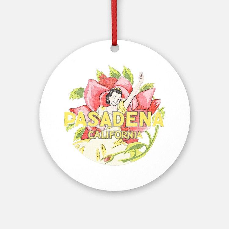 Vintage Pasadena Round Ornament