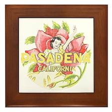 Vintage Pasadena Framed Tile