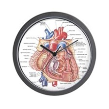 Heart anatomy Wall Clock