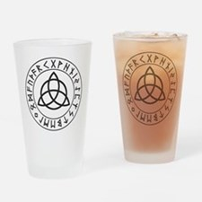 Triquetra Rune Shield.png Drinking Glass
