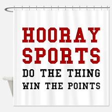 Hooray Sports Shower Curtain