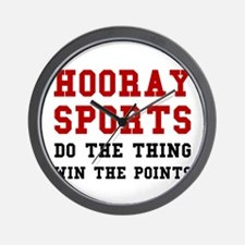 Hooray Sports Wall Clock