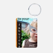 beyourself Aluminum Photo Keychain