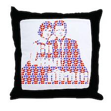 dark jack and jackie Throw Pillow