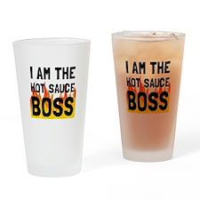 Hot Sauce Boss Drinking Glass