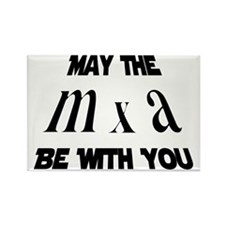 may the force be with you cropped Rectangle Magnet