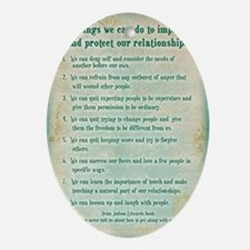 8 things to protect relationships 5x Oval Ornament