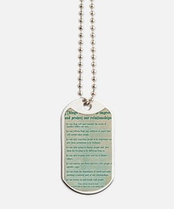 8 things to protect relationships 5x7 Dog Tags
