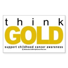 Childhood-Cancr-Think-GOLD Decal