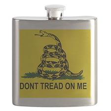 Gadsden Flag_sticker Flask