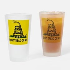Gadsden Flag_sticker Drinking Glass