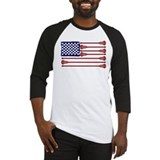 American flag lacrosse shirts Long Sleeve T Shirts