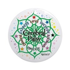 Cerebral-Palsy-Lotus Round Ornament