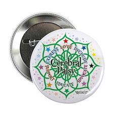 "Cerebral-Palsy-Lotus 2.25"" Button"