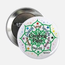 "Cerebral-Palsy-Lotus 2.25"" Button"