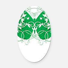 Cerebral-Palsy-Butterfly-blk Oval Car Magnet
