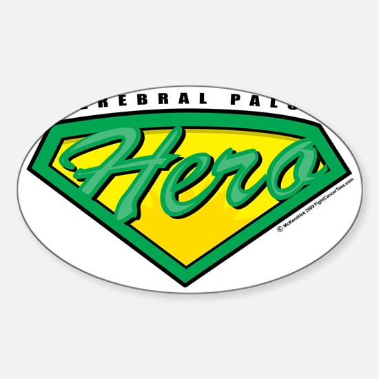 Cerebral-Palsy-Hero Sticker (Oval)