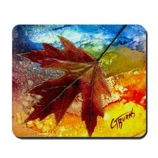 leaf design by gg Mousepad