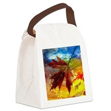 leaf design by gg Canvas Lunch Bag