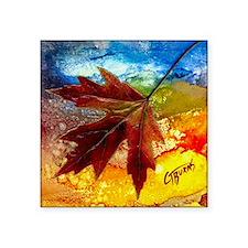 "leaf design by gg Square Sticker 3"" x 3"""