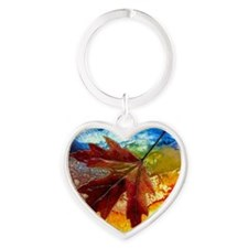 leaf design by gg Heart Keychain