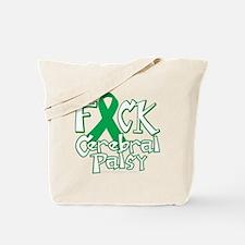 Fuck-Cerebral-Palsy-blk Tote Bag