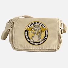Childhood-Cancer-Cat-Fighter Messenger Bag