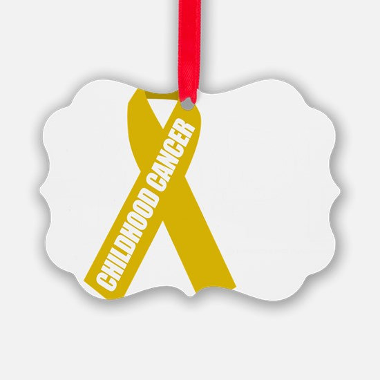 Childhood-Cancer-Hope-blk Ornament